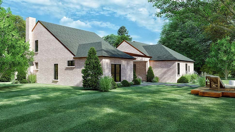 Cottage, European House Plan 82570 with 4 Beds, 3 Baths, 2 Car Garage Picture 3