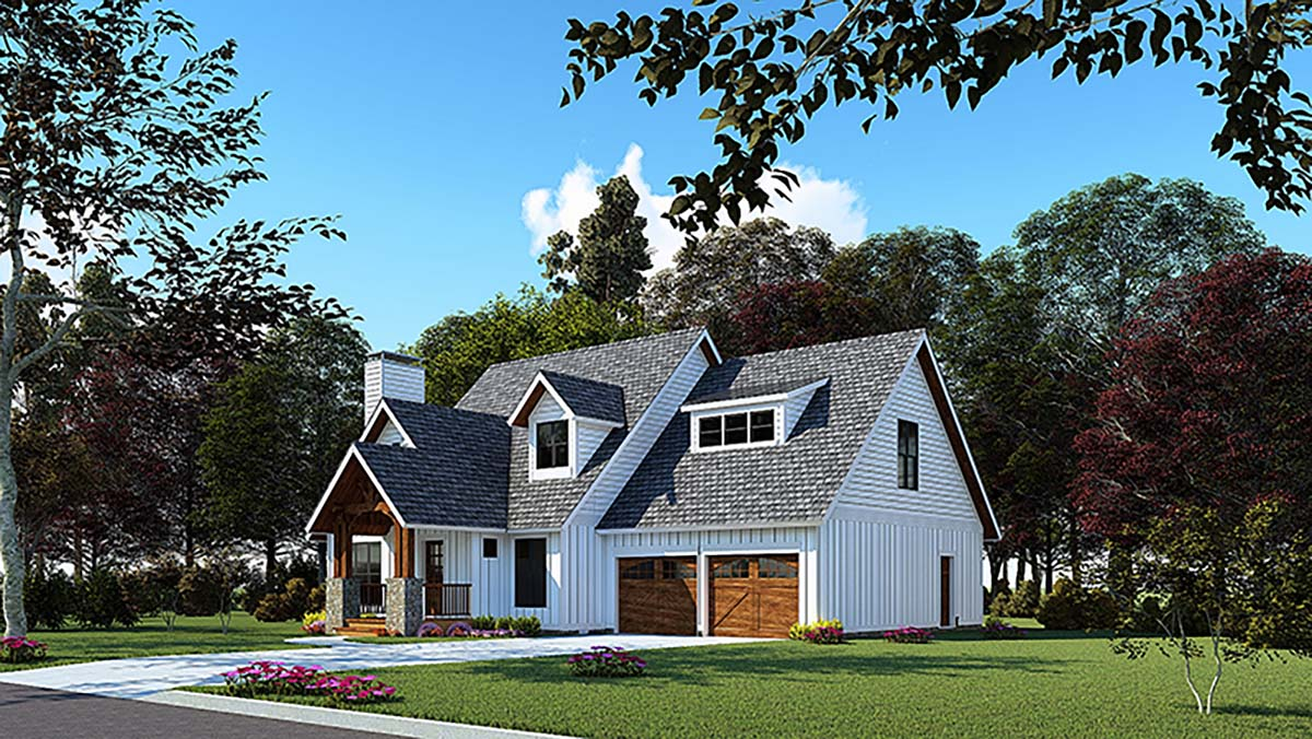 Bungalow, Craftsman House Plan 82572 with 3 Beds, 3 Baths, 2 Car Garage Picture 1
