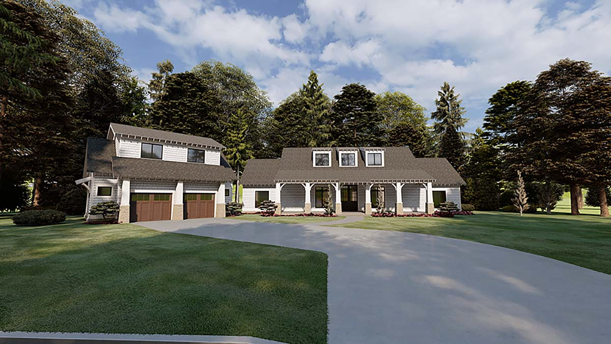 Bungalow, Craftsman, Farmhouse House Plan 82573 with 3 Beds, 4 Baths, 2 Car Garage Elevation