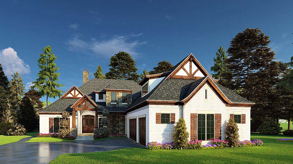Bungalow, Craftsman, French Country House Plan 82574 with 4 Beds, 5 Baths, 3 Car Garage Picture 3