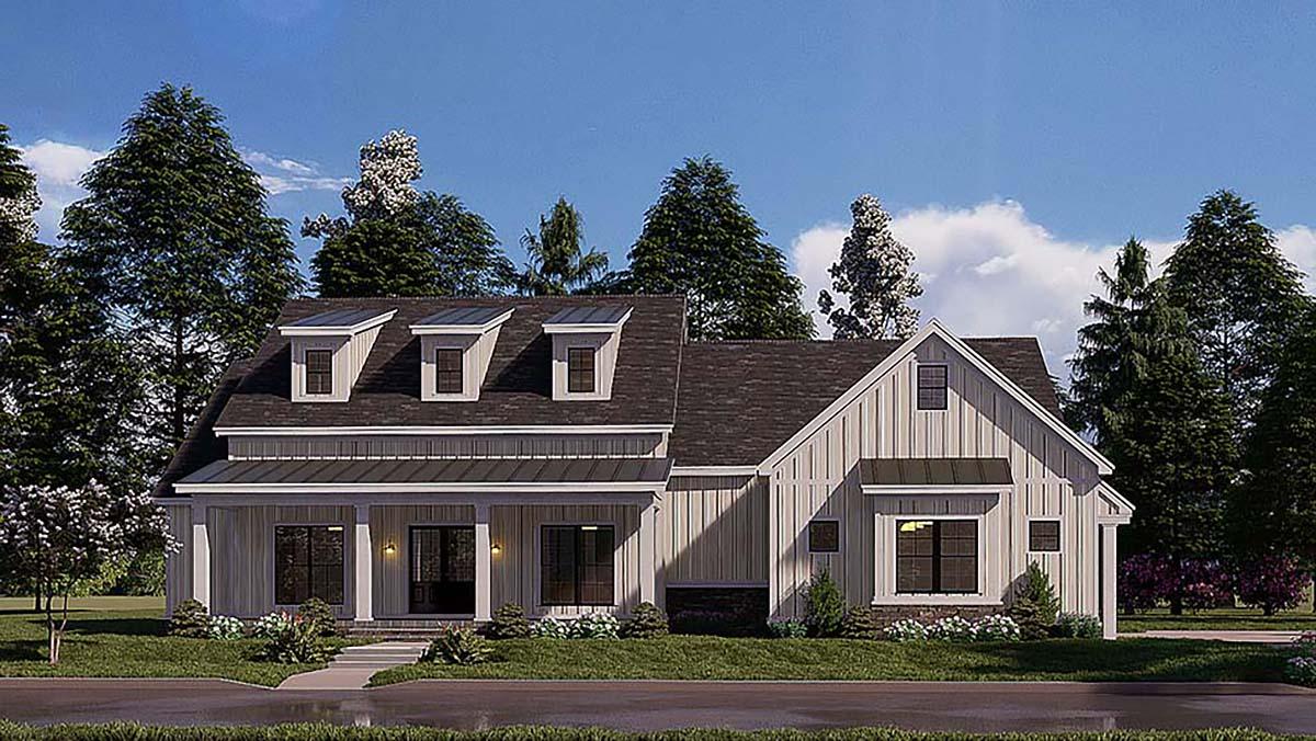 Bungalow, Craftsman, Farmhouse House Plan 82577 with 4 Beds, 3 Baths, 2 Car Garage Elevation