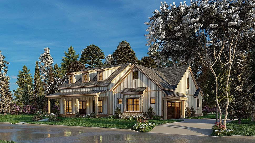 Bungalow, Craftsman, Farmhouse House Plan 82577 with 4 Beds, 3 Baths, 2 Car Garage Picture 3