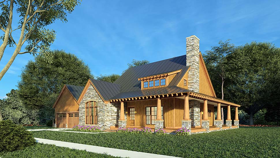 Country, Craftsman, Farmhouse House Plan 82581 with 3 Beds, 3 Baths, 2 Car Garage Picture 1