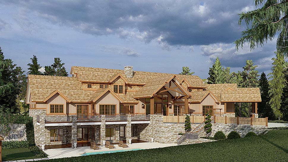 Country, Craftsman House Plan 82582 with 4 Beds, 6 Baths, 3 Car Garage Picture 2