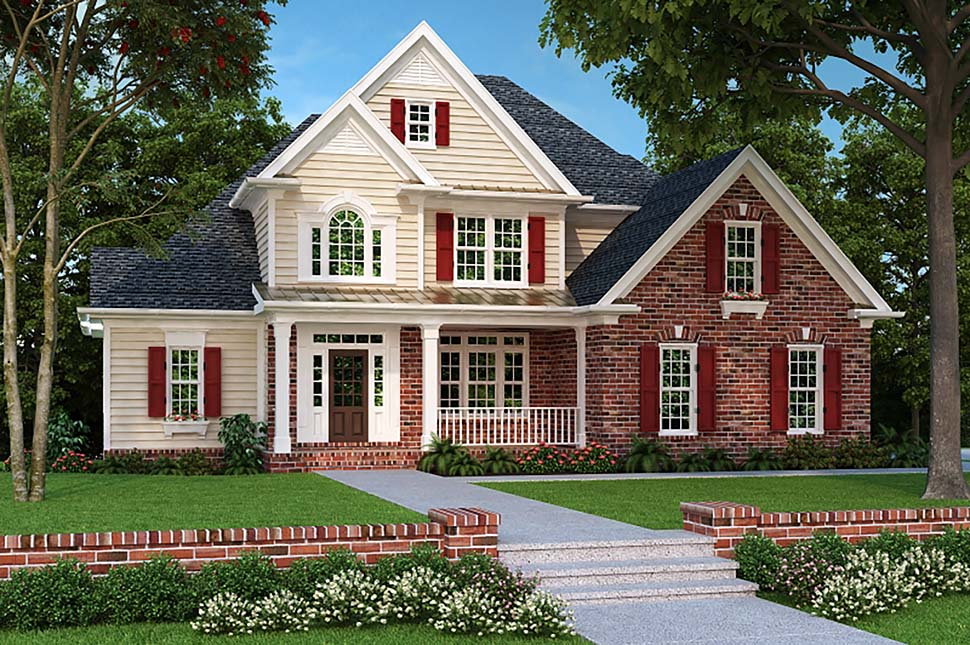 European, Traditional House Plan 83012 with 4 Beds, 3 Baths, 2 Car Garage Elevation