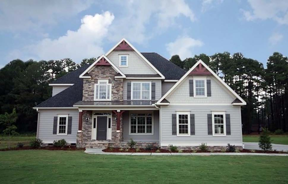 European, Traditional House Plan 83012 with 4 Beds, 3 Baths, 2 Car Garage Picture 2