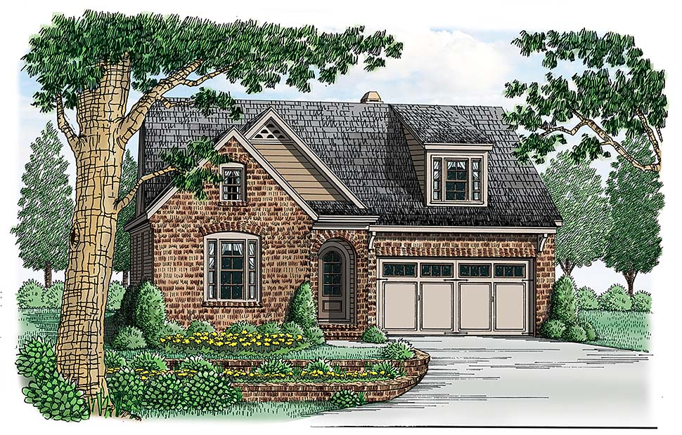 Bungalow, European, Traditional, Victorian House Plan 83022 with 3 Beds, 2 Baths, 2 Car Garage Elevation
