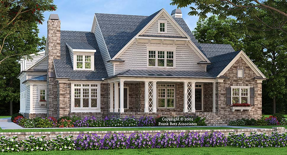 Craftsman House Plan 83074 with 4 Beds, 6 Baths, 3 Car Garage Elevation