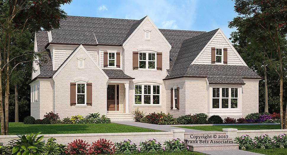 European, Traditional, Tudor House Plan 83098 with 4 Beds, 5 Baths, 2 Car Garage Elevation