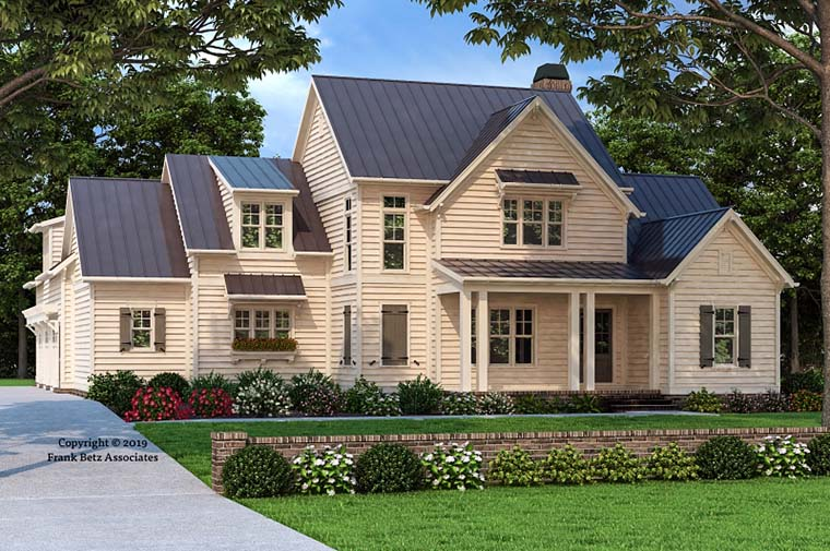 Country, Farmhouse, Traditional House Plan 83108 with 5 Beds, 5 Baths, 3 Car Garage Front Elevation