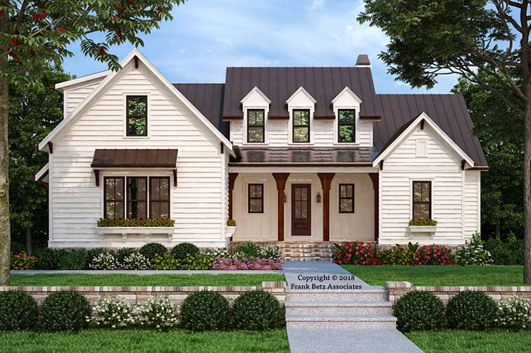 Country, Farmhouse, Traditional House Plan 83110 with 4 Beds, 4 Baths, 2 Car Garage Elevation