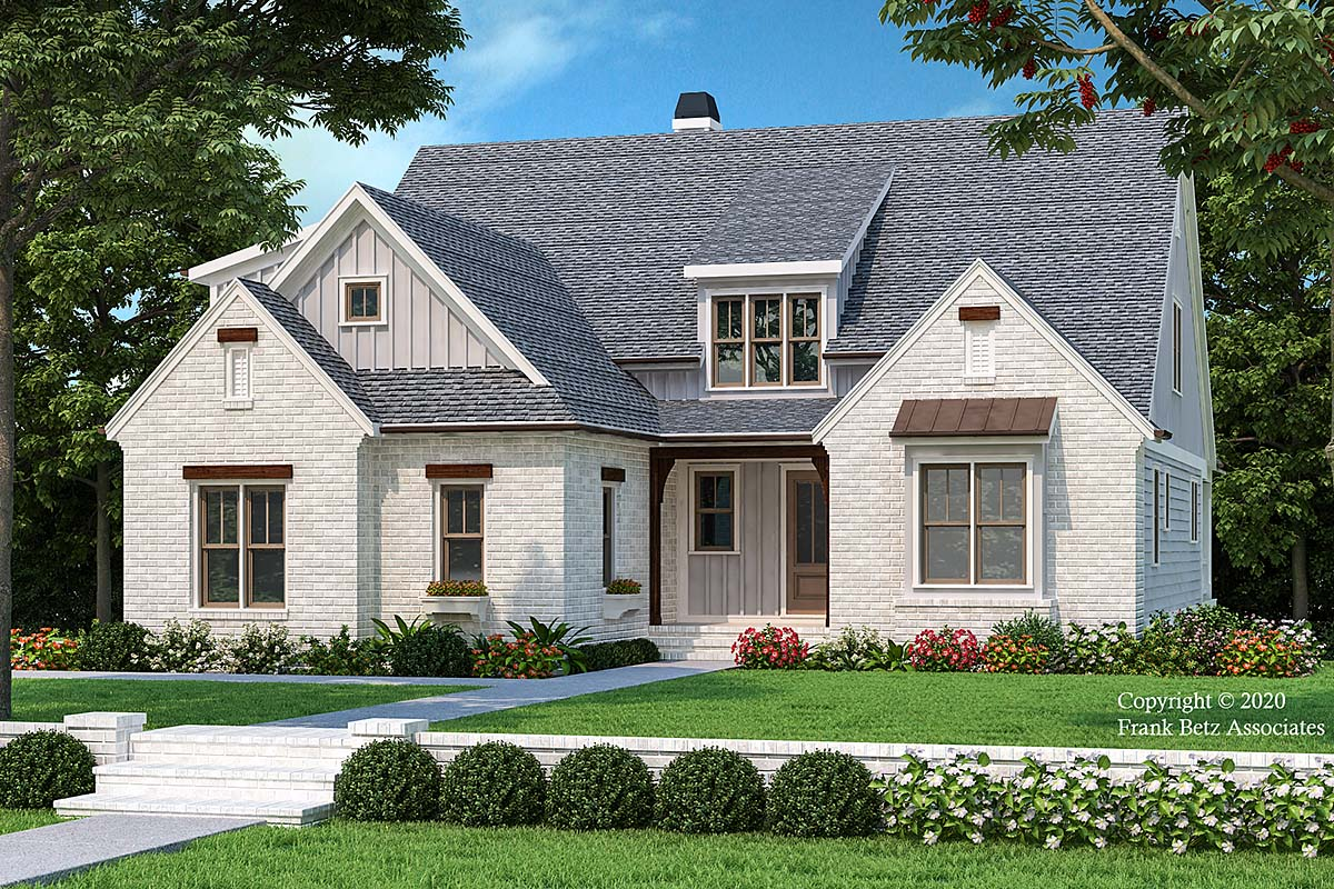 Country, Farmhouse House Plan 83116 with 4 Beds, 4 Baths, 2 Car Garage Elevation