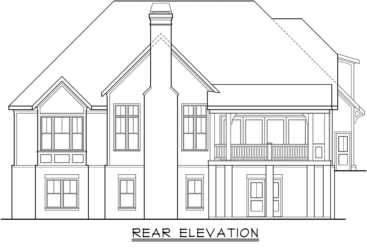 Country, Craftsman, Farmhouse, Southern House Plan 83117 with 4 Beds, 4 Baths, 2 Car Garage Rear Elevation