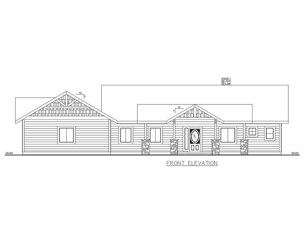 Craftsman House Plan 85118 with 4 Beds, 3 Baths, 2 Car Garage Picture 1