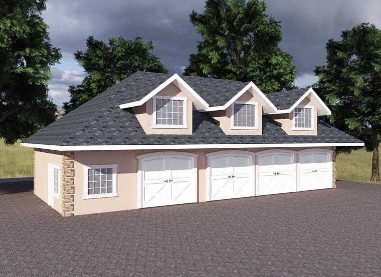 Traditional 0 Car Garage Plan 85203 Elevation