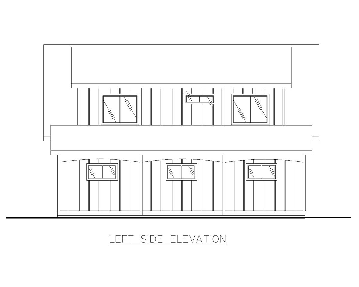 Country, Southern 4 Car Garage Apartment Plan 85207 with 2 Beds, 1 Baths Picture 2