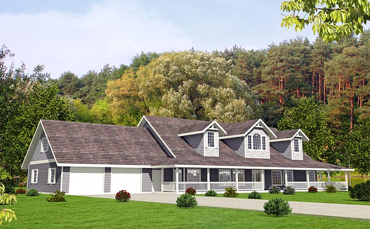 Country, Southern House Plan 85225 with 4 Beds, 5 Baths, 3 Car Garage Front Elevation