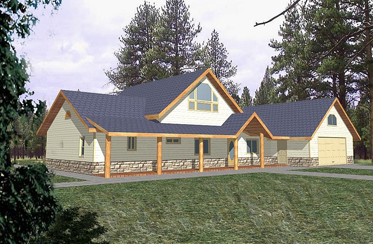 Country, Traditional House Plan 85283 with 2 Beds, 2 Baths, 2 Car Garage Elevation