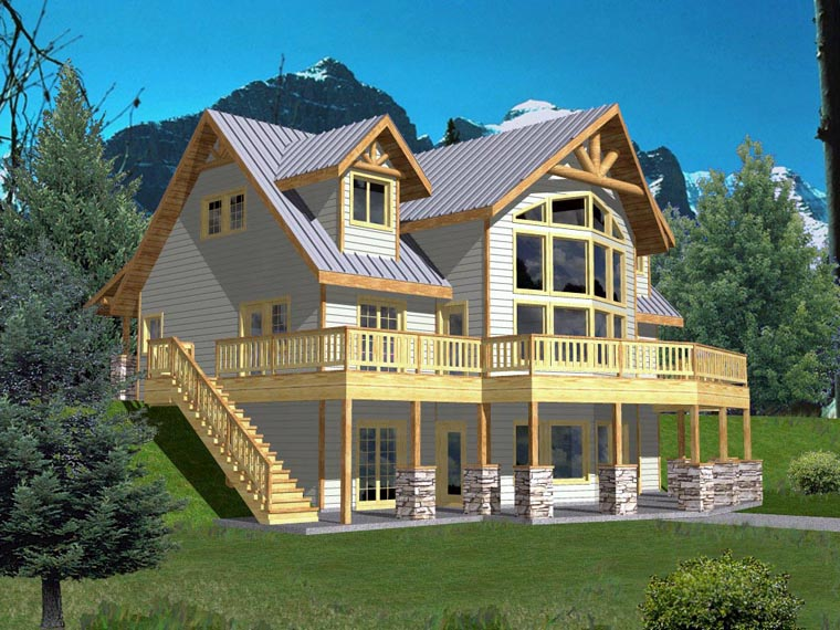 Coastal House Plan 85316 with 3 Beds, 3 Baths Elevation