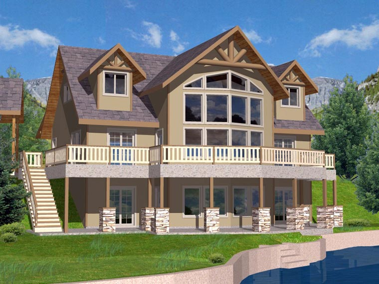 Coastal House Plan 85316 with 3 Beds, 3 Baths Picture 2