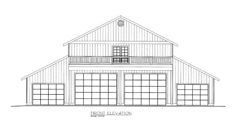 4 Car Garage Apartment Plan 85387, RV Storage Picture 1