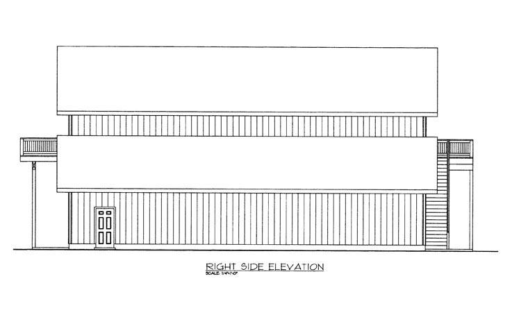 4 Car Garage Apartment Plan 85387, RV Storage Picture 2