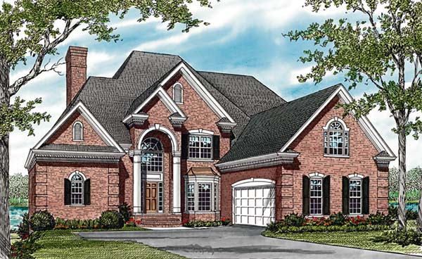 Traditional House Plan 85621 with 6 Beds, 5 Baths, 2 Car Garage Elevation