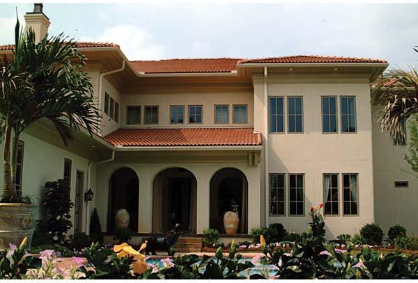 European, Mediterranean House Plan 85647 with 5 Beds, 6 Baths, 3 Car Garage Rear Elevation