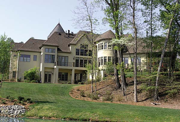 Country, European House Plan 85657 with 6 Beds, 9 Baths, 3 Car Garage Rear Elevation