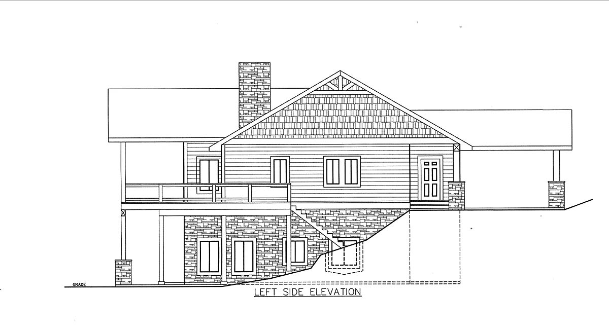 House Plan 85835 with 4 Beds, 4 Baths, 2 Car Garage Picture 2
