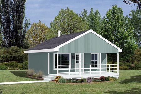 Cabin House Plan 85939 with 2 Beds, 1 Baths Front Elevation