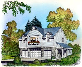 Plan Number 86063 - 932 Square Feet