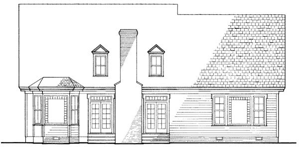 Country, Farmhouse, Victorian House Plan 86130 with 4 Beds, 4 Baths, 2 Car Garage Rear Elevation