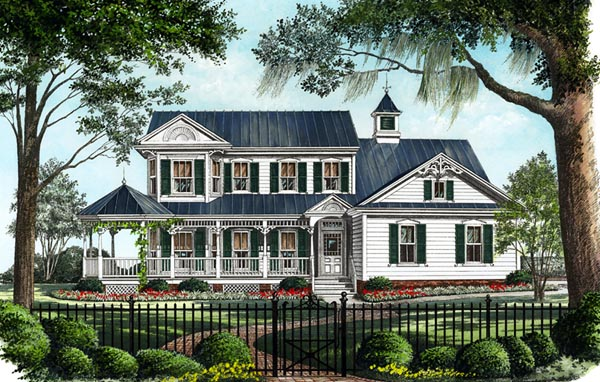 Country, Farmhouse, Victorian House Plan 86246 with 3 Beds, 3 Baths, 2 Car Garage Front Elevation
