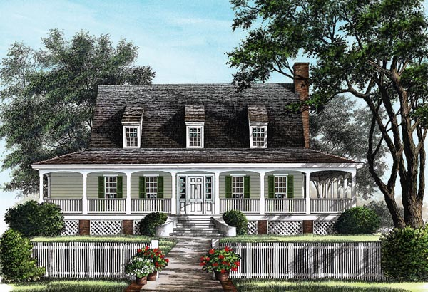Farmhouse, Traditional House Plan 86257 with 3 Beds, 3 Baths Elevation