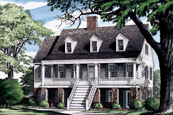 Coastal, Country, Southern, Traditional House Plan 86275 with 4 Beds, 4 Baths, 2 Car Garage Elevation