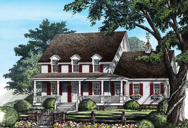 Cottage, Country House Plan 86278 with 4 Beds, 4 Baths, 2 Car Garage Elevation