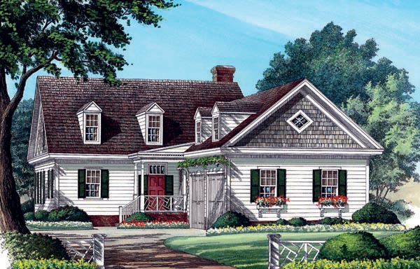 Colonial, Southern, Traditional House Plan 86285 with 3 Beds, 3 Baths, 2 Car Garage Elevation