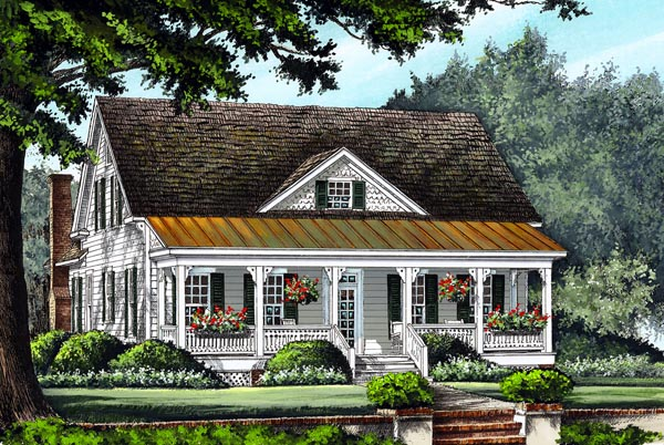 Farmhouse, Traditional House Plan 86299 with 4 Beds, 4 Baths, 2 Car Garage Elevation
