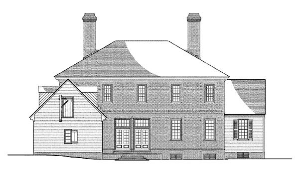 Colonial, Plantation, Traditional House Plan 86328 with 5 Beds, 6 Baths, 2 Car Garage Rear Elevation