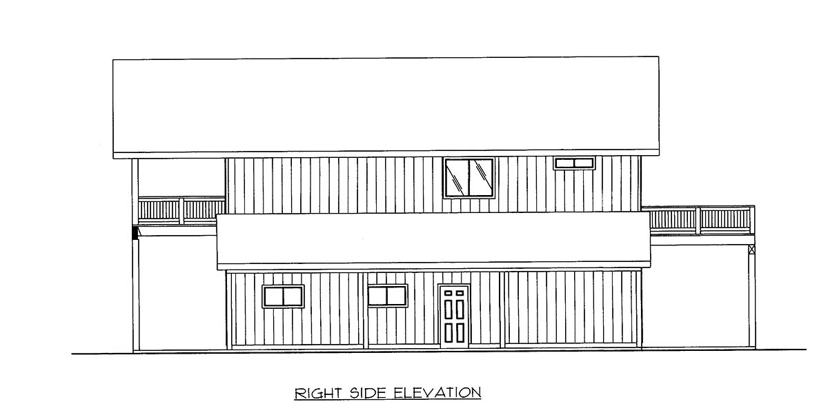 Contemporary, Farmhouse 5 Car Garage Apartment Plan 86568 with 2 Beds, 3 Baths Picture 1