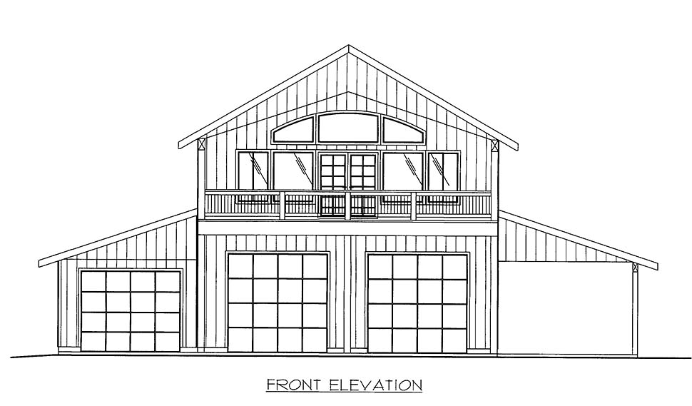Contemporary, Farmhouse 5 Car Garage Apartment Plan 86568 with 2 Beds, 3 Baths Picture 3