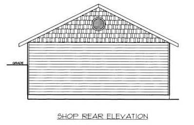 4 Car Garage Plan 86576, RV Storage Rear Elevation