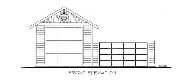 3 Car Garage Plan 86585, RV Storage Elevation