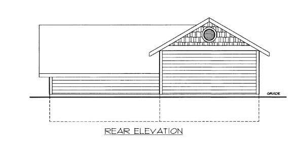 3 Car Garage Plan 86585, RV Storage Rear Elevation