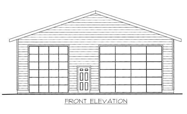 3 Car Garage Plan 86595, RV Storage Front Elevation