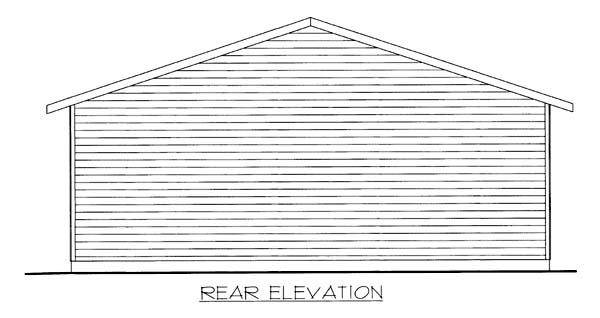 3 Car Garage Plan 86595, RV Storage Rear Elevation