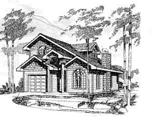 Craftsman House Plan 86749 with 3 Beds, 2 Baths, 1 Car Garage Elevation