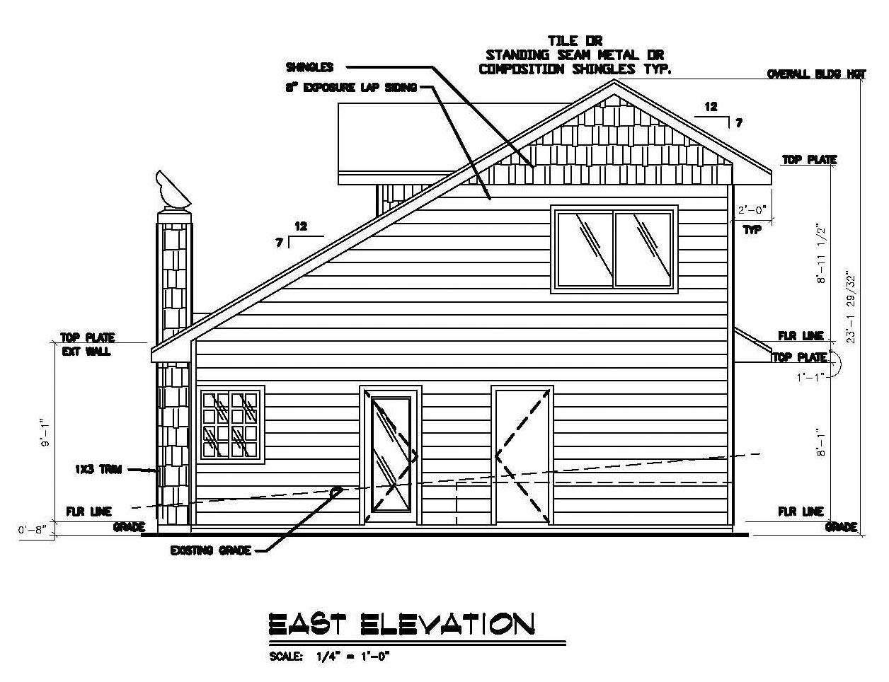Craftsman House Plan 86749 with 3 Beds, 2 Baths, 1 Car Garage Rear Elevation