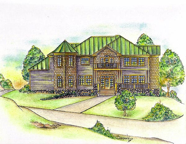 Victorian House Plan 86852 with 6 Beds, 6 Baths Elevation
